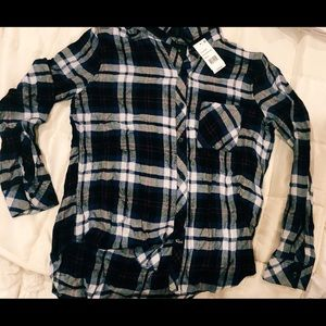 Rails blue, white, red and black flannel!